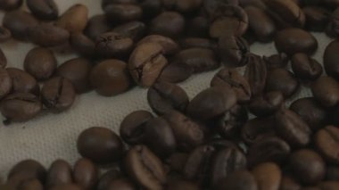 Roasted coffee beans — Stock Video