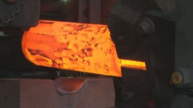 Metallurgy. The factory. Melting. Forming. Stamping. — Stock Video