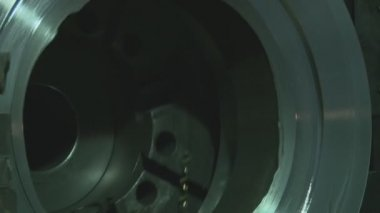 Metallurgy. milling machine. — Stock Video