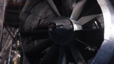 Big fan. The turbine. — Vídeo stock