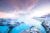 Blue lagoon hot spring spa. — Stock Photo