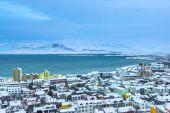 Pohled z Reykjavíku, Island — Stock fotografie