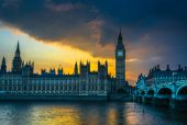 The Palace of Westminster, Big Ben — Stock Photo