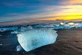 Jokulsarlon ice beach — Stock Photo