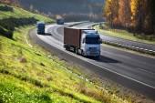 道路上のトラック — ストック写真
