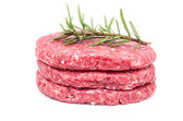 Raw Burger — Stock Photo