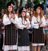 Female Greek Dancers — Stock Photo