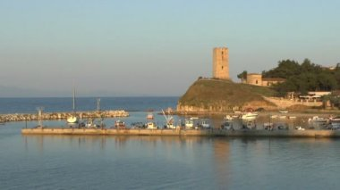 Tower and Harbor — Vídeo de Stock
