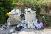 Full Rubbish Bins — Stock Photo
