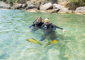 Happy Divers — Stock fotografie
