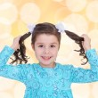 Little girl preparing holiday — Stock Photo #55989771