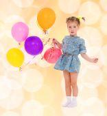 Little girl preparing holiday — Stock Photo