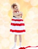 Very passionate little girl — Stock Photo