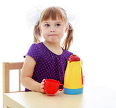 Very clever little girl — Stock Photo