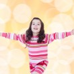 Little girl preparing holiday — Stock Photo #55990663