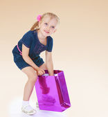 Charming little girl playing. — Stock Photo