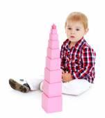 Little boy playing — Стоковое фото