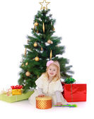 Studio photography of a little girl. — Stock Photo