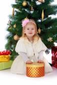 Neşeli küçük kız — Stok fotoğraf