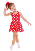 Charming little girl is going briskly. — Stock Photo