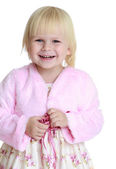 Close-up of elegant blond little girl. — Stock Photo