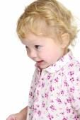 Closeup of a cute little girl. — Stock Photo