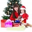Mother and daughter around the Christmas — Stock Photo #75666495