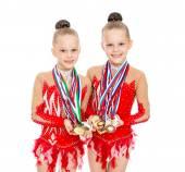 Children gymnasts — Stock Photo