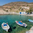 ������, ������: Traditional fishing boats in Ag Nikolas bay Kimolos island Cyclades Greece