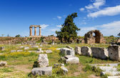 Ancient Corinth, Peloponnese, Greece — Stock Photo