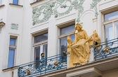 Princess Libuse statue on St. Charles street, Prague, Czech Republic — Stock Photo