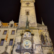 Постер, плакат: The Astronomical clock at night Prague Czech Republic