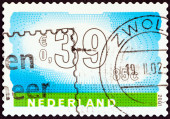 NETHERLANDS - CIRCA 2001: A stamp printed in the Netherlands shows sky and landscape, circa 2001. — Stock Photo