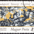 "HUNGARY - CIRCA 1983: A stamp printed in Hungary from the ""Budapest Spring Festival "" issue shows Ship of Peace (Endre Szasz), circa 1983. — Stock Photo #52989129"