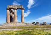 Temple of Apollo, Ancient Corinth, Greece — Stock Photo