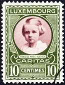 LUXEMBOURG - CIRCA 1928: A stamp printed in Luxembourg shows Princess Marie Adelaide, circa 1928. — Stock Photo