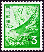 JAPAN - CIRCA 1971: A stamp printed in Japan shows Lesser cuckoo (Cuculus poliocephalus), circa 1971. — Stock Photo