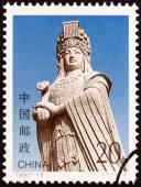 CHINA - CIRCA 1992: A stamp printed in China shows statue of Mazu, Sea Goddess, circa 1992. — Stock Photo