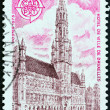 "FRANCE - CIRCA 1973: A stamp printed in France from the ""Europa "" issue shows Town Hall, Brussels, circa 1973. — Stock Photo #55397301"