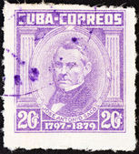 "CUBA - CIRCA 1954: A stamp printed in Cuba from the ""Portraits "" issue shows Jose Antonio Saco, circa 1954. — Stock Photo"