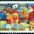 "FINLAND - CIRCA 1990: A stamp printed in Finland from the ""Christmas "" issue shows Post office of Santa Claus, circa 1990. — Stock Photo #57757183"