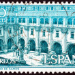 SPAIN - CIRCA 1960: A stamp printed in Spain shows Samos Monastery, circa 1960. — Stock Photo #58035647
