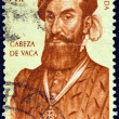 "SPAIN - CIRCA 1960: A stamp printed in Spain from the ""400th anniversary of discovery and colonization of Florida "" issue shows explorer Cabeza de Vaca, circa 1960. — Stock Photo #58035843"