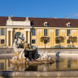 Fountain in Schonbrunn palace courtyard, Vienna, Austria — Stock Photo #58297775