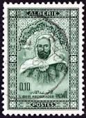 ALGERIA - CIRCA 1967: A stamp printed in Algeria shows Emir Abdelkader, circa 1967. — Stock fotografie