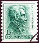 USA - CIRCA 1963: A stamp printed in USA shows 7th President Andrew Jackson, circa 1963. — Zdjęcie stockowe