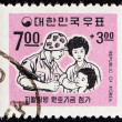 SOUTH KOREA - CIRCA 1967: A stamp printed in South Korea issued for the Fund for Korean Troops Serving in Vietnam shows Soldier and Family, circa 1967. — Stock Photo #61978907