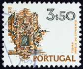 PORTUGAL - CIRCA 1973: A stamp printed in Portugal shows Convent of Christ, Tomar, circa 1973. — Stock Photo