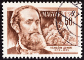 "HUNGARY - CIRCA 1954: A stamp printed in Hungary from the ""Scientists "" issue shows Turkolog Armin Vambery (1832-1913), circa 1954. — Stock Photo"