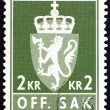 NORWAY - CIRCA 1960: A stamp printed in Norway shows Norway Coat of Arms, circa 1960. — Stock Photo #69487935